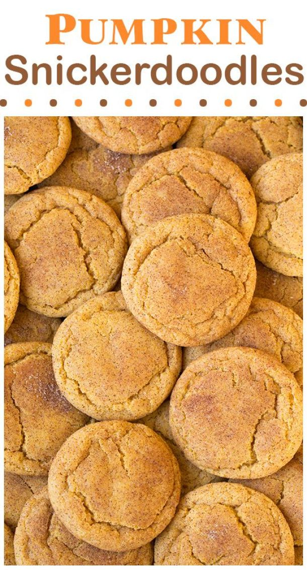 Pumpkin Snickerdoodles Cookies Recipe - soft, chewy and completely delicious!! | Cooking Classy
