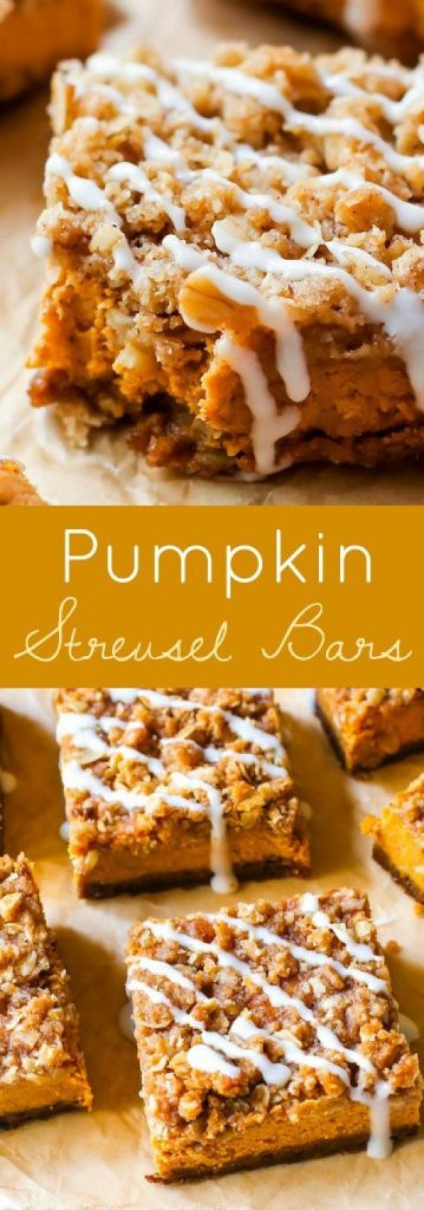 Pumpkin Streusel Bars Recipe | Sally's Baking Addiction