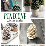 Pretty Winter Crafts Using Pinecones! #wintercrafts #pinecones #pineconecrafts