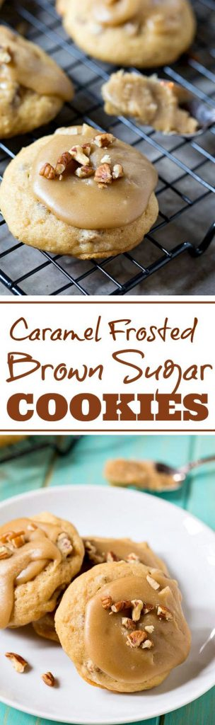 Caramel Frosted Brown Sugar Cookies Recipe | Spicy Southern Kitchen