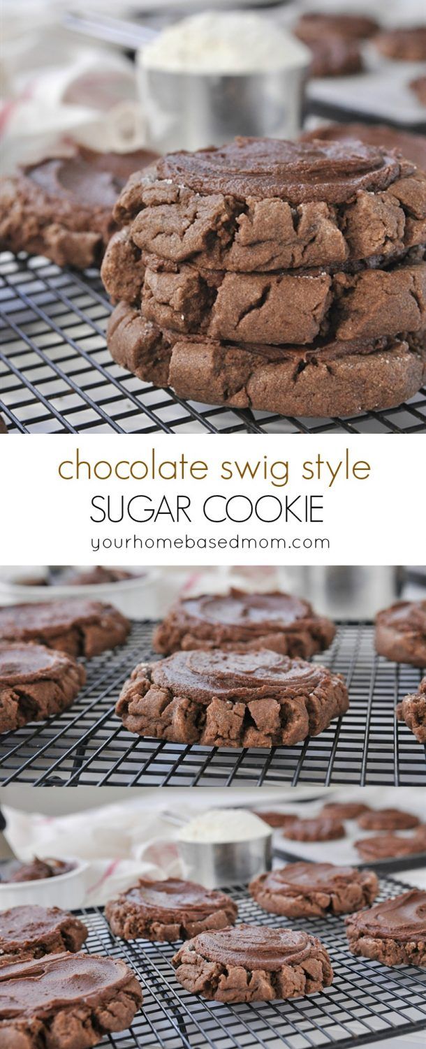 Chocolate Swig Style Sugar Cookies Recipe | Your Homebased Mom