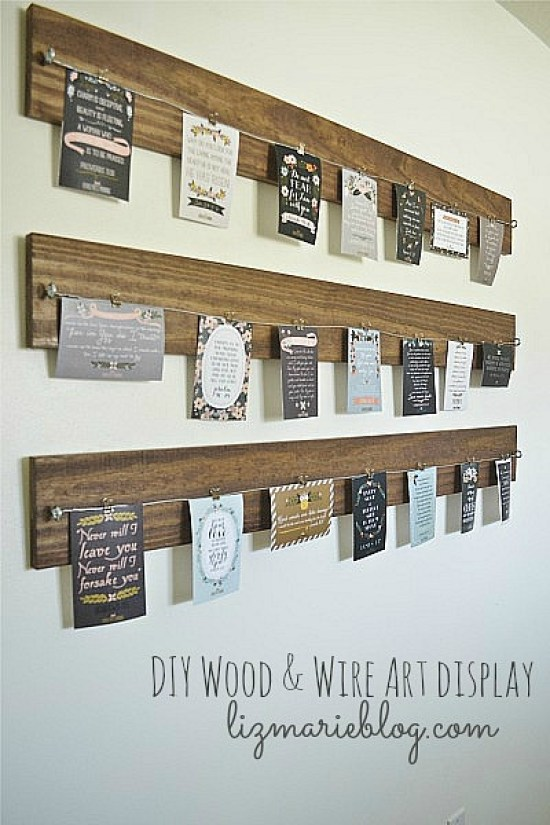 DIY Wood and Wire Christmas Card Display Tutorial | Liz Marie Blog