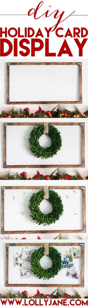 DIY Holiday Card Display, SO EASY To Make!! Proudly Display ALL Your  Christmas