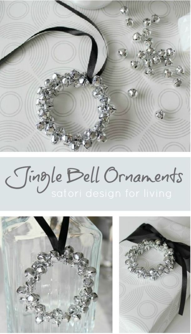 Pretty Jingle Bell DIY Christmas Tree Ornaments Tutorial | Satori Design for Living - Easy and Cheap DIY Christmas Tree Ornaments