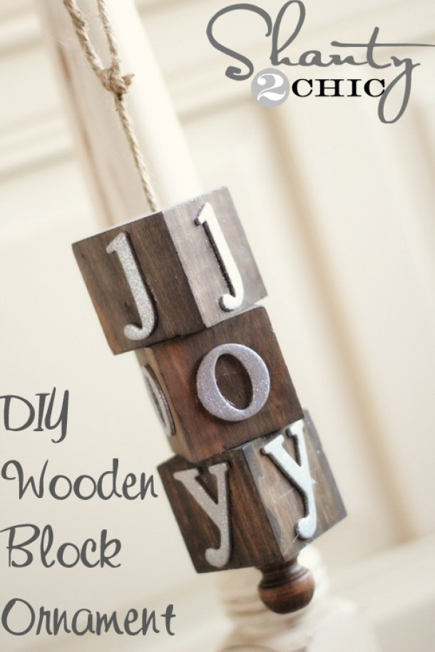 Pretty and EASY Wooden Christmas Ornaments Tutorial | Shanty2Chic - Easy and Cheap DIY Christmas Tree Ornaments
