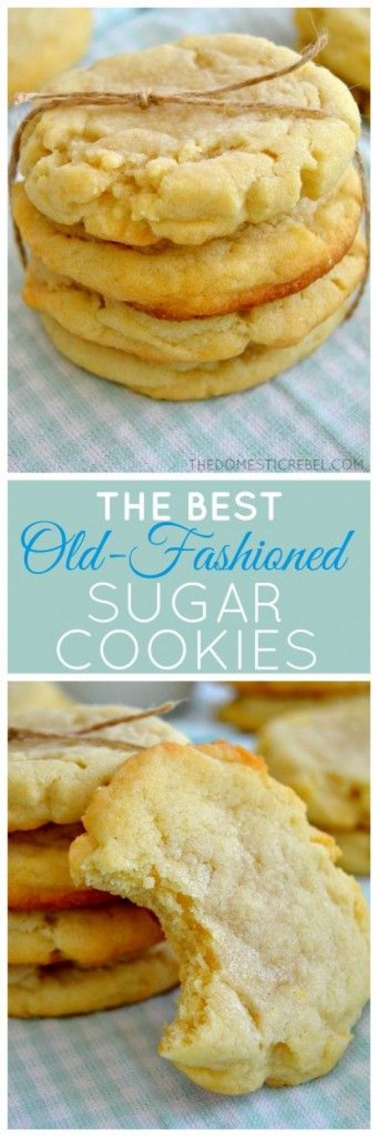 The Best Old-Fashioned Sugar Cookies Recipe | The Domestic Rebel