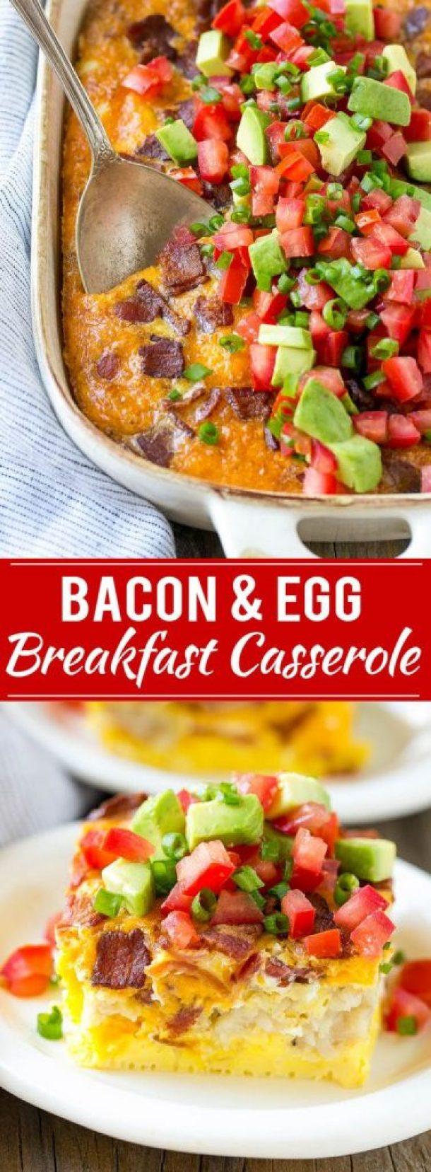 Bacon & Egg Breakfast Casserole Recipe | Dinner at the Zoo
