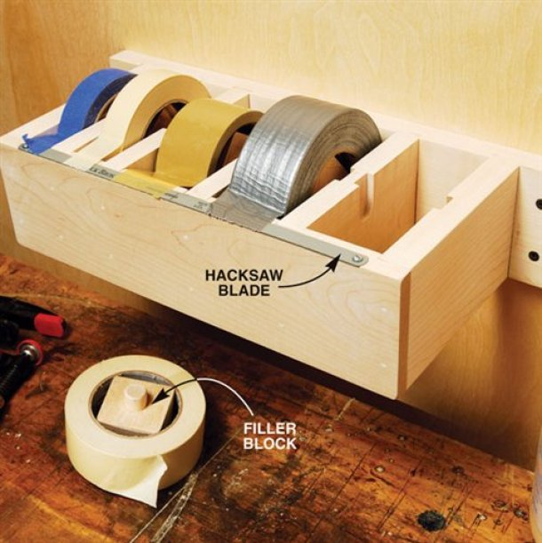 Create a DIY Jumbo Tape Dispenser for your Duct Tape, Electrical Tape, Masking Tape, you name it! | Popular Woodworking