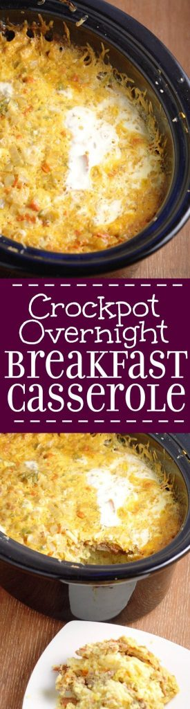 CrockPot Overnight Breakfast Casserole Recipe | The Gracious Wife