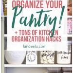 Love these ideas for kitchen organization... that pot lids one is genius! #kitchenorganization #kitchentips #organization #organizingtips