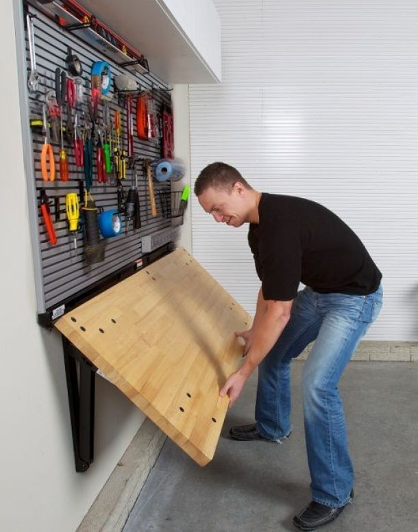 What a great way to add a workspace without taking up extra room!   Bench Solution