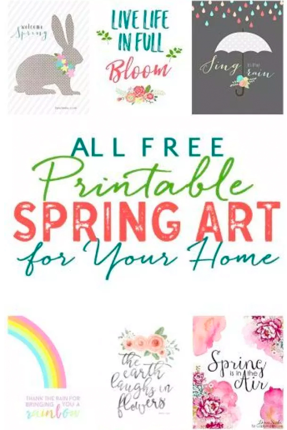 image regarding Free Printables for Home referred to as Charming No cost Spring Printables: Spring Artwork For Your Residence