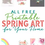 25+ Free Spring Printables for the Home! #springprintables #freeprintables #springdecorating #freespringprintables