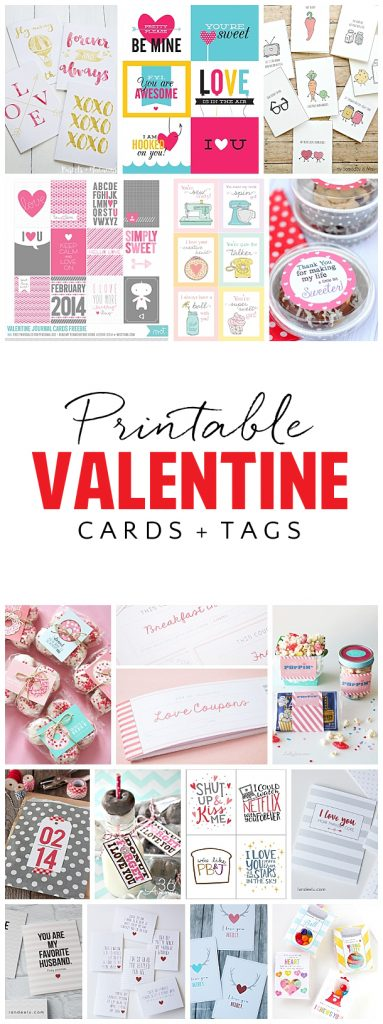 graphic regarding Free Printable Valentine Cards for Husband identified as Cost-free Printable Valentines Working day Playing cards and Present Tags
