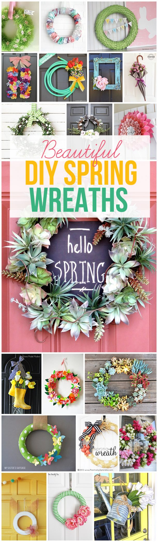 Get your craft on and make some one of these beautiful DIY spring wreaths this year!