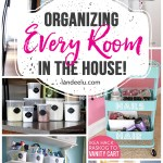 How to Organize Every Room in the House! Tons of great and inexpensive ideas to organize every nook and cranny of your house! #organizing #organizingtips #organization #howtoorganize