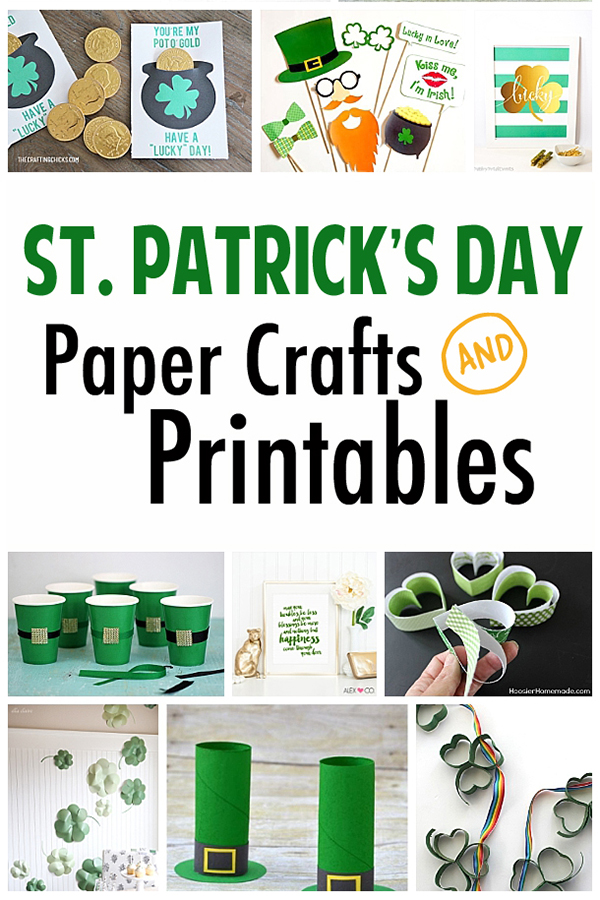 Fun printables and paper crafts to celebrate St. Patrick's Day! #stpatricksday #stpattysday #stpatricksdaycrafts #irishcrafts #printables