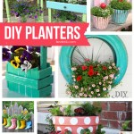 DIY Planters | landeelu.com Lots of fun ideas to make your garden pretty and original this year! #diyplanters #diygardenideas #gardenideas