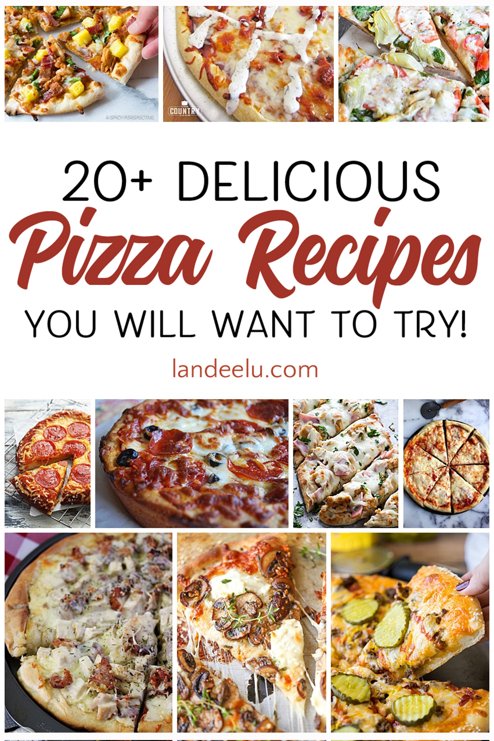 Yummy pizza recipes to try for our weekly pizza night! #pizzarecipes #homemadepizzas #dinnerrecipes #dinnerideas