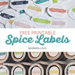 I can't wait to organize my spice cupboard now with these cute printable spice labels! Love those magnetic spice tins too!