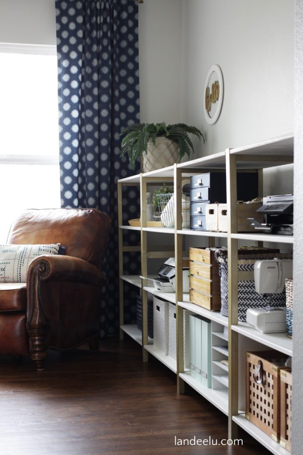 IKEA Hack IVAR Home Office Shelves