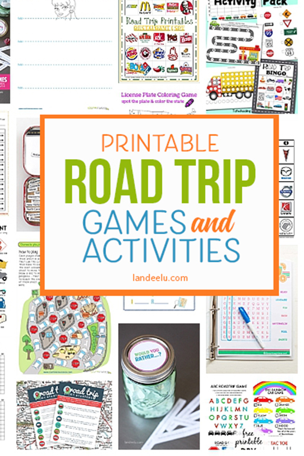 A TON of awesome printable car games for kids! So easy to print and entertain your family with these fun road trip games everyone will love! #cargamesforkids #cargameideas #printablegames #printableactivities #roatripideas