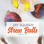 """These DIY stress balls are so addicting! They are perfectly """"squishable"""" but have a fun texture too! Great kids craft!"""