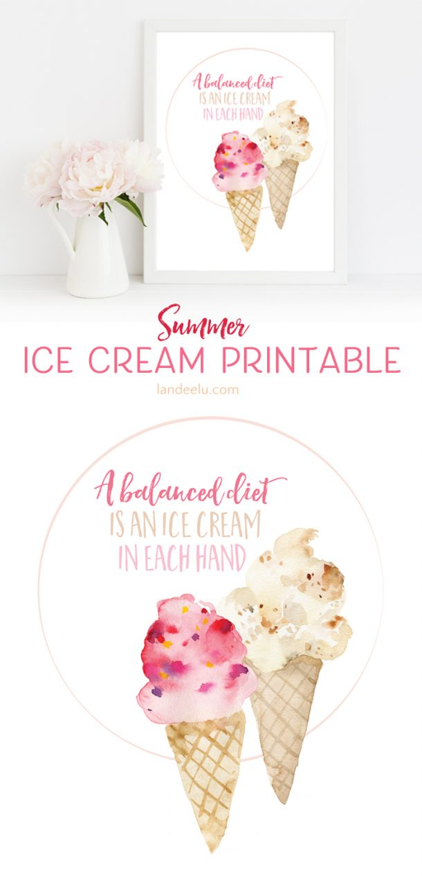 photo about Ice Cream Printable called Cute Summer time Ice Product Printable -