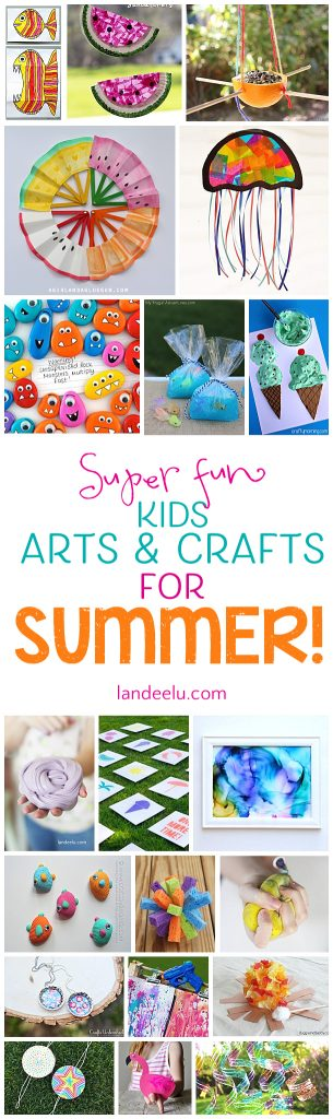 Summer Craft Ideas For Kids 20 Ideas To Keep Em Busy Landeelu Com
