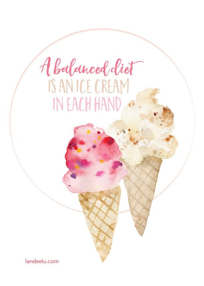 Darling summer ice cream printable! Perfect for a summer party
