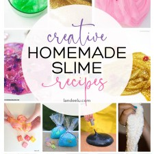 Jump on the homemade slime recipe train and create these in your own kitchen! #slime #slimerecipes #homemadeslime #kidscrafts