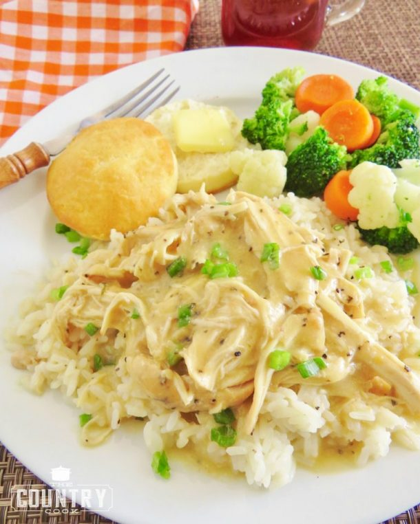Crock Pot Chicken and Gravy via The Country Cook