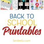 Celebrate, organize, and entertain with these awesome back to school printables!