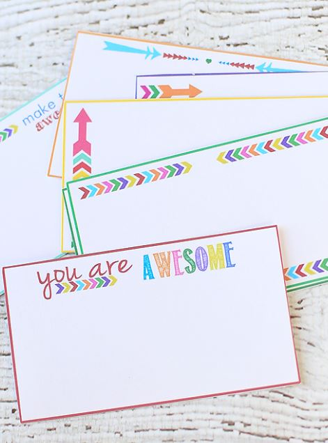 FREE Back to School Notes Printables |  Reasons to Skip the Housework