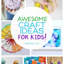 So many fun summer craft ideas for kids to keep their minds and creativity going all summer long! I love the ice cream paintings! #kidscrafts #easycrafts #summercrafts #crafts #kidstuff