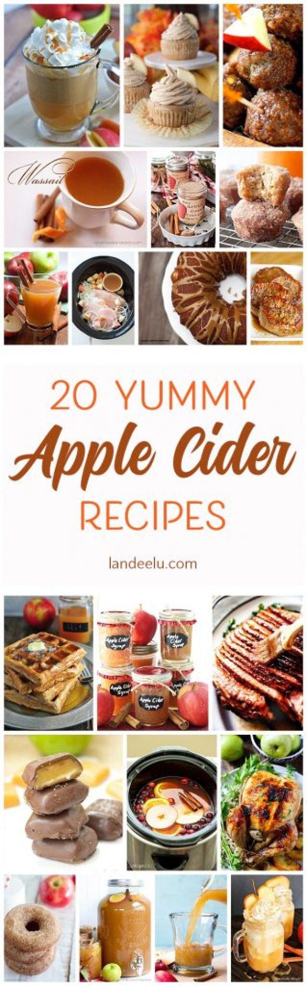 Over 20 delicious apple cider recipes for fall!