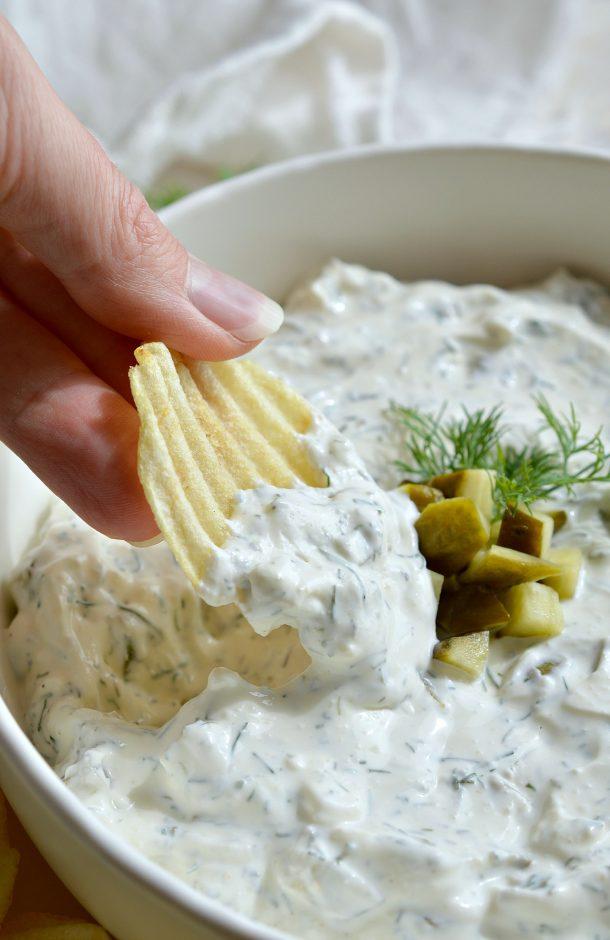 Dill Pickle Dip Recipe | Wonky Wonderful