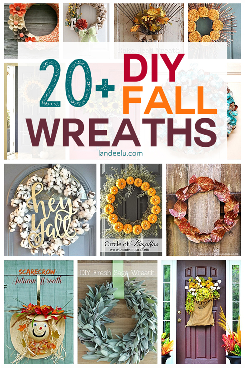 Diy Projects Pretty Diy Fall Wreaths Landeelu Com