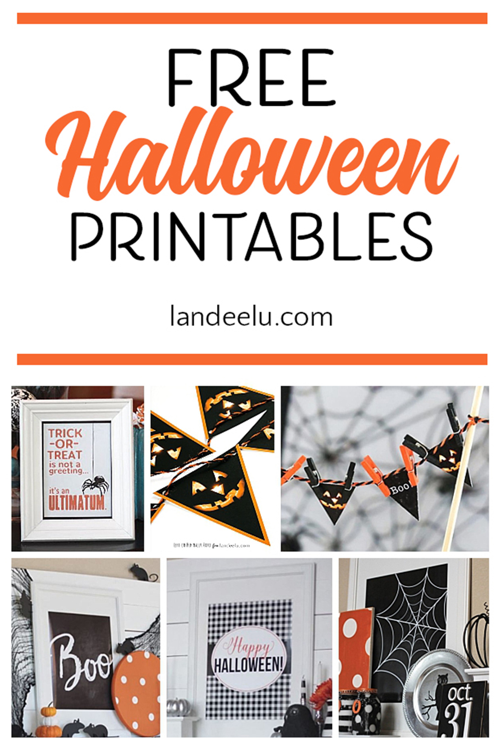 Tons of free Halloween printables to spookify your Halloween decor! #halloween #halloweendecor #halloweenideas #freehalloweenprintables