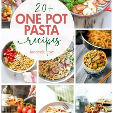 Perfect for busy weeknights! Try some of these delicious one pot pasta recipes! #onepotdinners #onepotrecipes #onepotpasta #pastarecipes #dinnerrecipes