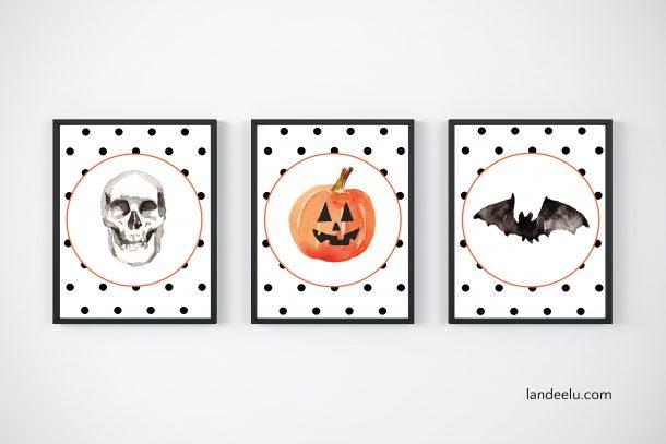 Adorable polka dot Halloween printables!
