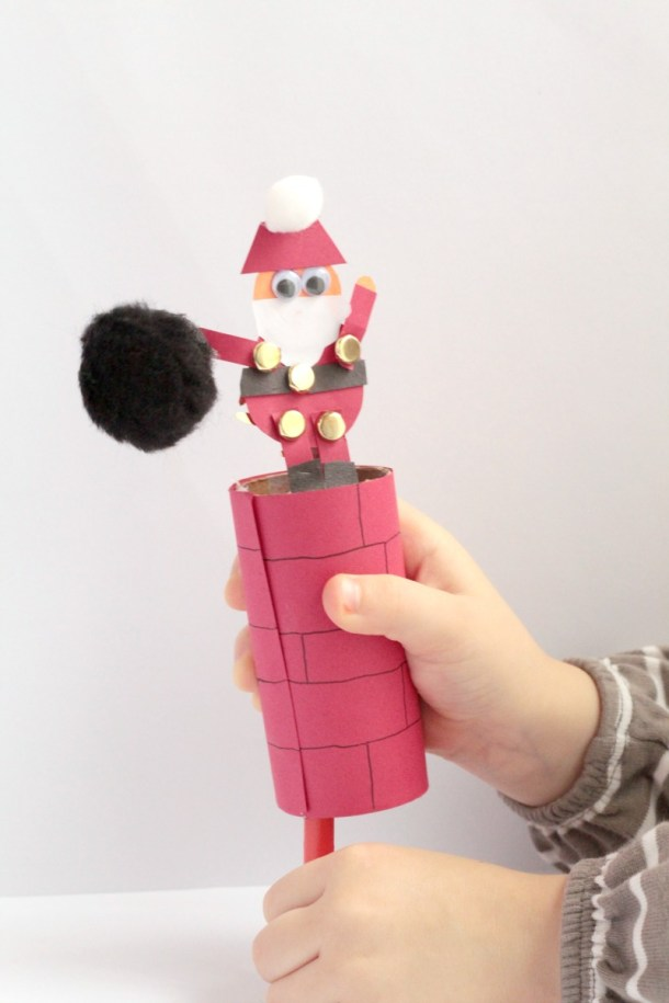Help Santa Down the Chimney Craft | Sight and Sound Reading