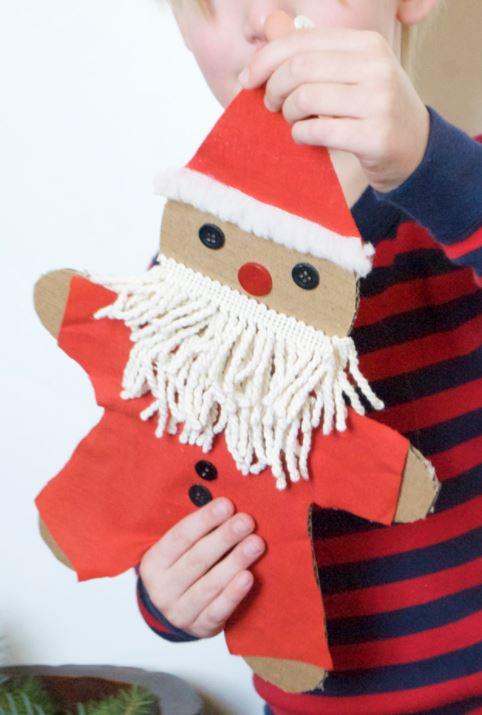 Cardboard Gingerbread Santa DIY | Mer Mag