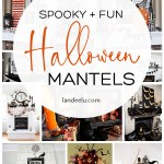 These Halloween decoration ideas for mantels are awesome!! So many fun ideas! #halloweenmantel #halloweendecor #halloweendecorations #halloween
