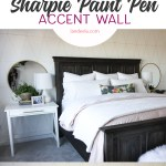 DIY Accent Wall Idea: Gold Sharpie Paint Pens