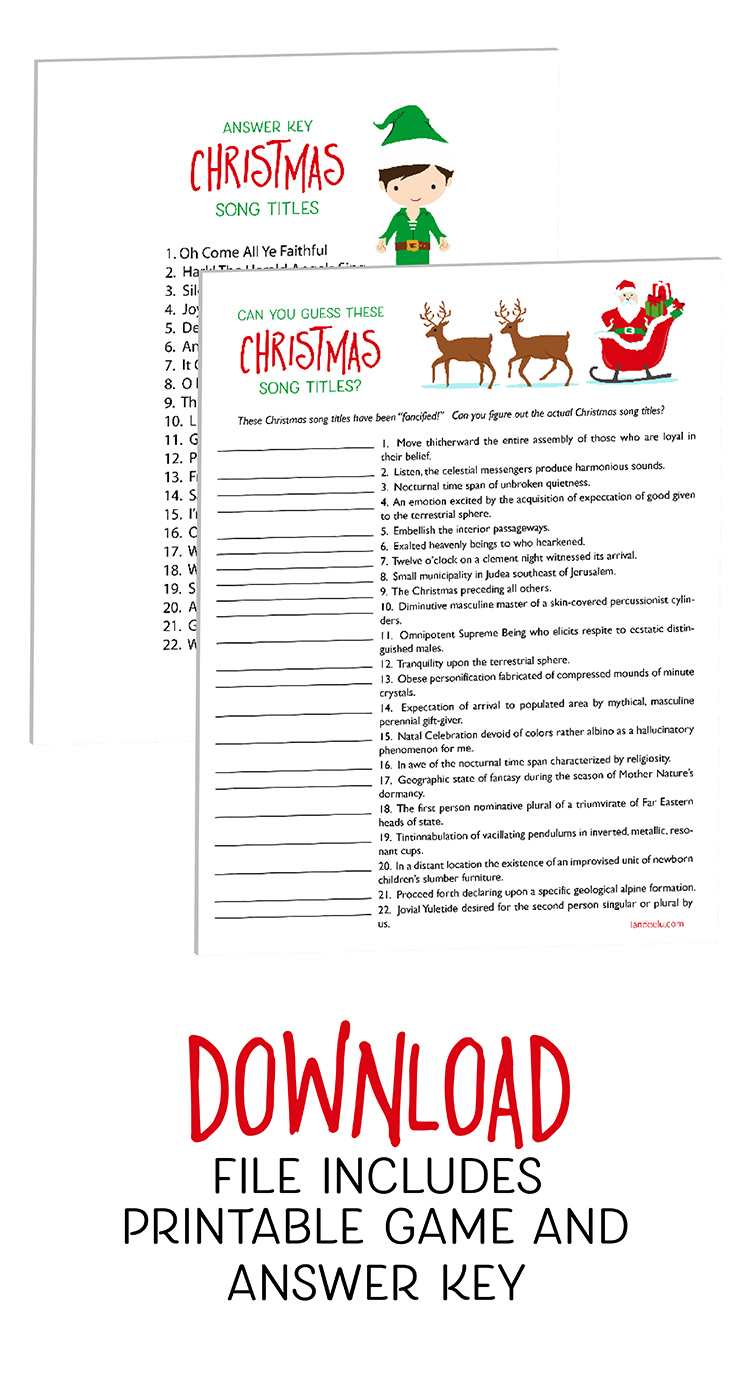 image about Christmas Carol Game Printable identify Xmas Game titles: Wager This sort of Xmas Music! -