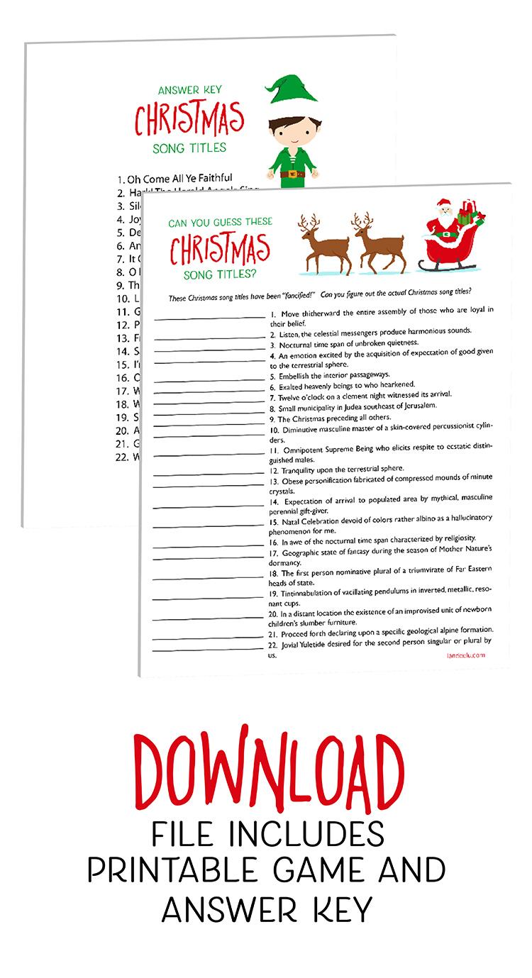 photo regarding Printable Christmas Games identify Xmas Online games: Wager This sort of Xmas Music! -