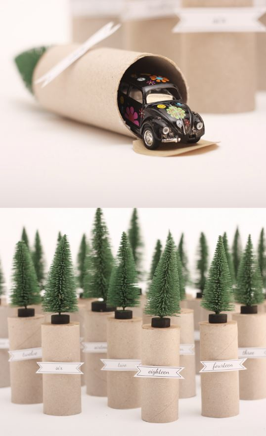 Toilet Paper Rolls + Trees DIY Advent Calendar | Morning Creativity