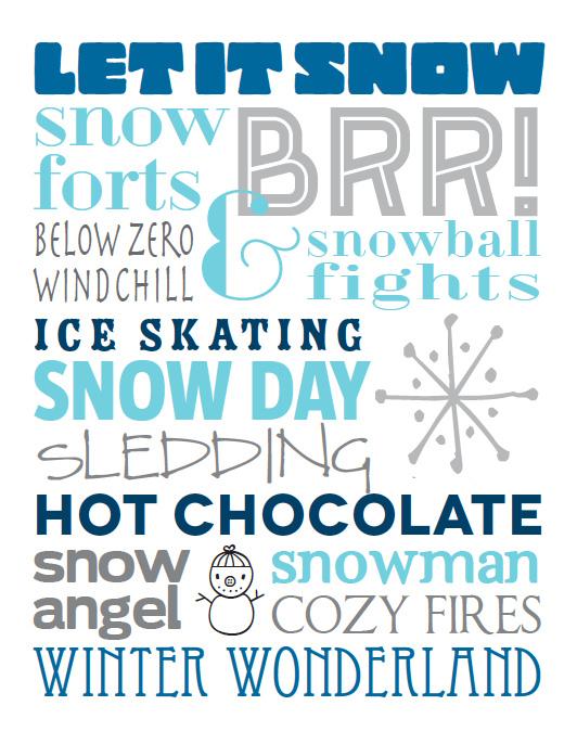 Winter Subway Art Printable | embe