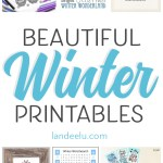 Beautiful and Fun Winter Theme Printables